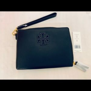 Tory Burch Leather Lily Large Zip Pouch Wallet
